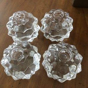 Authentic Tiffany & Co. Crystal candleholders